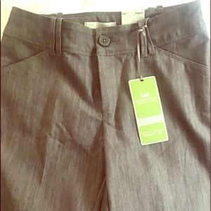 Heather gray cotton straight leg pant Sz 6